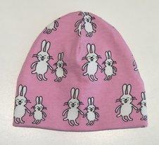 Mössa Funny Bunny rosa, 42/44