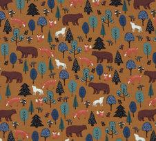 Skog gyllenbrun