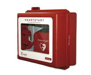 Larmat skåp för Hjärtstartare