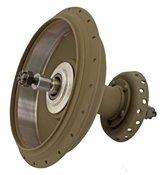 Front hub w/brake drum, 45CI WLA, green