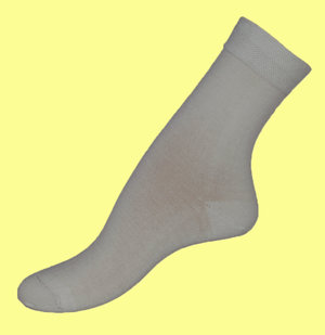 White bambu sock