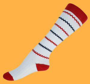 Pippi white wool knee socks