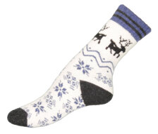 Deer in blue Ullsocka