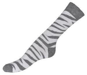 Tiger randigt i grått & vit  bomullsstrumpor