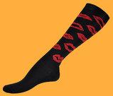 Red lips knee socks