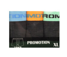 Herrboxer 3-pack, svart/färgband