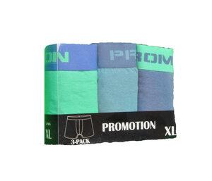 Herrboxer 3-pack, Blå/grön