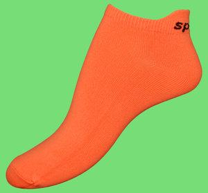 Orange microfiber ankelsocks