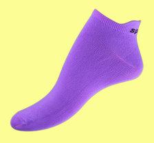 Purple microfiber ankelsock