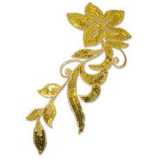 SPARKLING FLOWER - guld