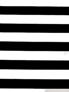 STRIPE svart/vit 2,5 cm
