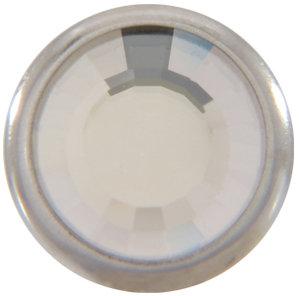 1780/100 TRYCKKNAPP Silver/Crystal