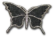 Fjäril - svart/silver