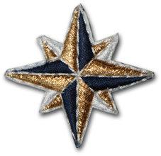 Dubbelstjärna - guld/vit/svart