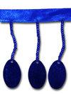 PALJETTFRANS - blå, oval