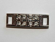 Dekorspänne - silver/crystal