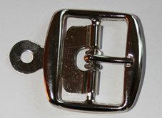 METALLSPÄNNE silver 3,8 cm