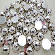 HALVPÄRLA - silver 6 mm