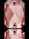 3252 EMERALD CUT Vintage Rose 14x10 mm