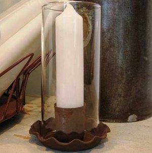 Liten ljusstake med glas