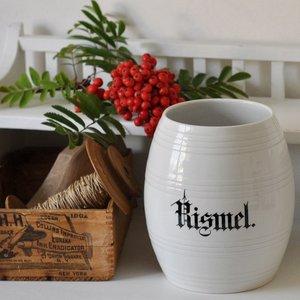 Danska vita porslinsburkar från Villeroy & Boch