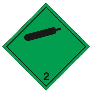 Klass 2.2 - Storetiketter 25x25 cm - 25 st