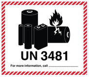 Lithiumbatteri UN 3481