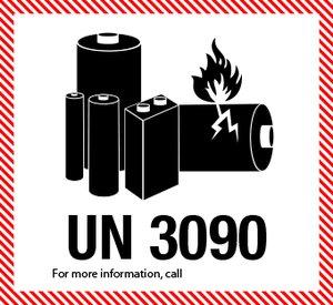 Lithiumbatteri UN 3090