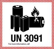 Litiumbatteri UN 3091