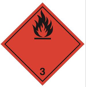 Luokka 3 - Varoituslipukkeet 25x25 cm - 25 kpl