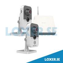 Paket NVR 4 kanaler 1TB 2 kameror wifi