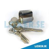 Cylinder MU 301 3 nycklar krom