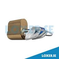 Cylinder d1201 3 nycklar matt mässing