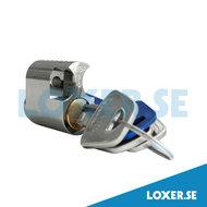 Cylinder d1203 insida 3 nycklar matt krom