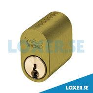 Cylinder DC500 3 nycklar matt mässing
