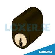 Cylinder DC500 3 nycklar brun