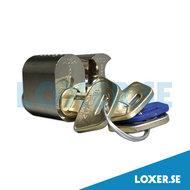 Cylinder d1202 3 nycklar nickel