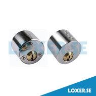 Cylinder DC5400 3 nycklar matt krom