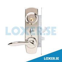 Lås Entre K1 komplett nickel Lika låsning 2 stycken