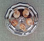 Snigeltallrik 6 fack fransk modell i rostfritt