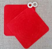 Silicon grytlappar röda paret