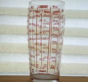 Mätglas för fast och flytande