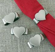 Servettring hjärta 4-pack