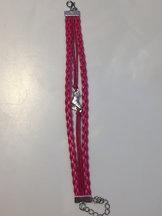 Armband rosa med skridsko