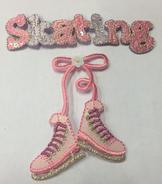 Tygmärke skridskor och skating