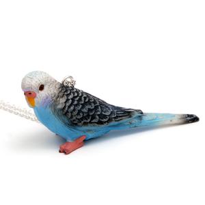 Blå Undulat Halsband