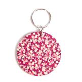 Nyckelring 'Floral' Pink