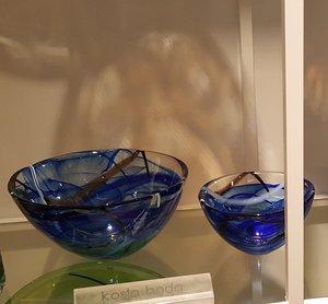 Contrast Bowl Blue Medium - Kosta Boda