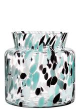 Fir Vase Green / Black Wide
