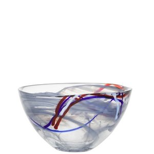 Contrast Bowl Grey Medium - Kosta Boda